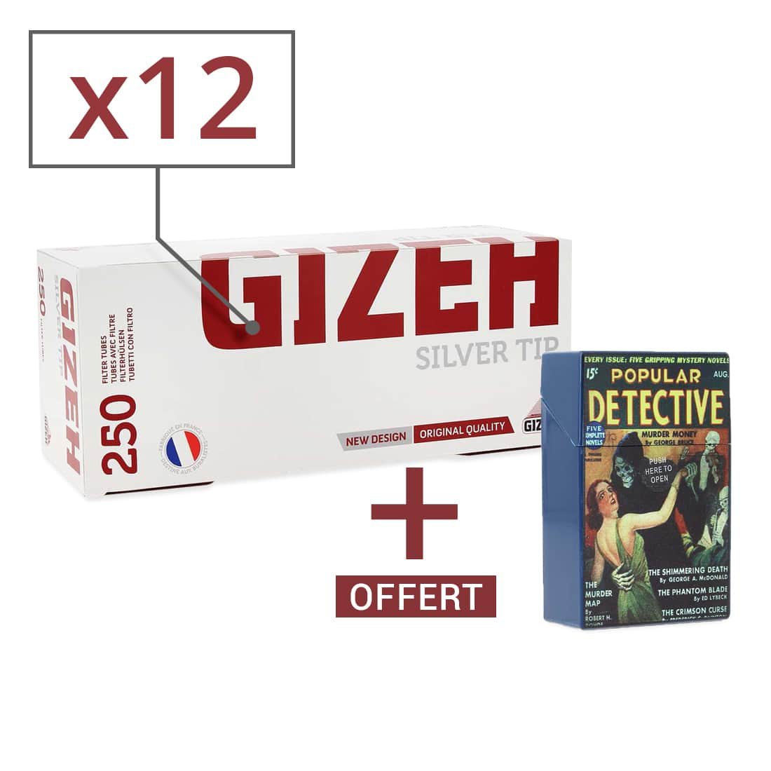 Photo de Pack Tube Gizeh Silver Tip