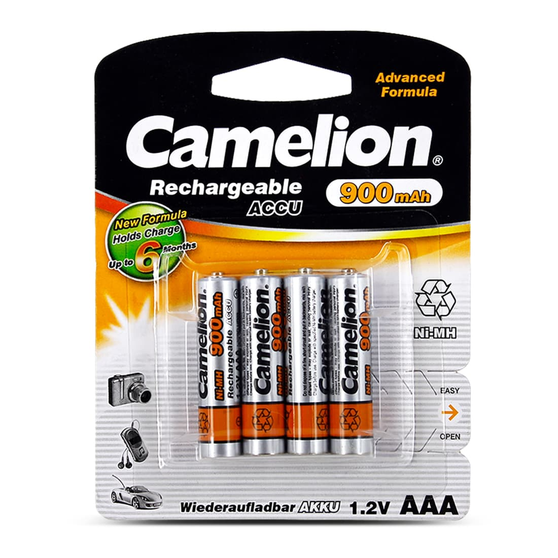 Photo de Pile Camelion AAA 1.2 V Rechargeable x 4