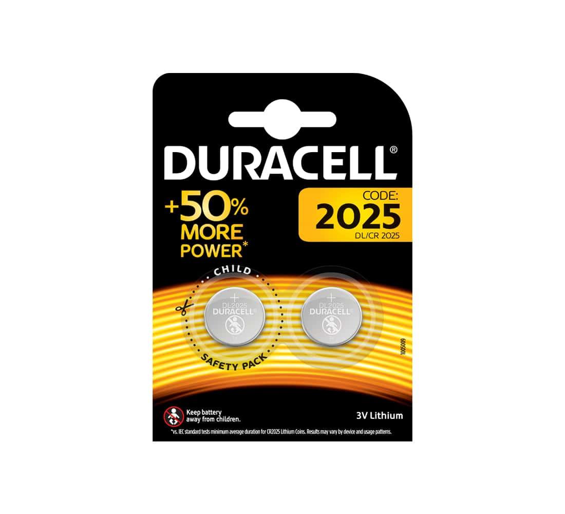 Photo de Pile Lithium Duracell CR2025 x 2