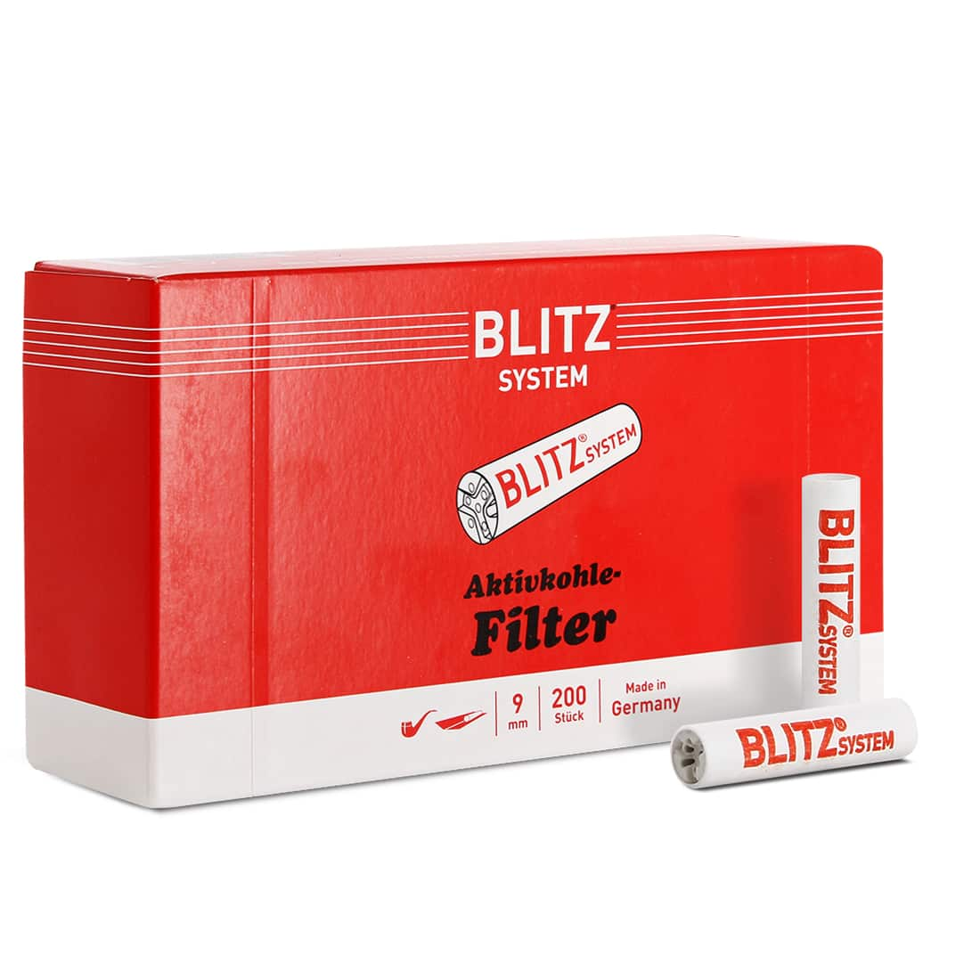 Photo de Filtres Blitz Charbon pour Pipe 9 mm