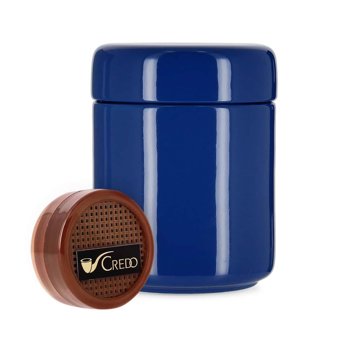 Photo de Pot à tabac Céramique Bleu et Humidificateur Crédo