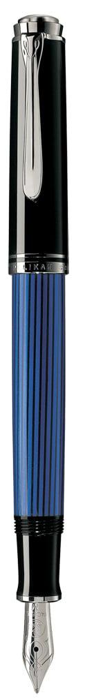 Photo de Stylo Plume Pelikan M405 Souverän noir et bleu