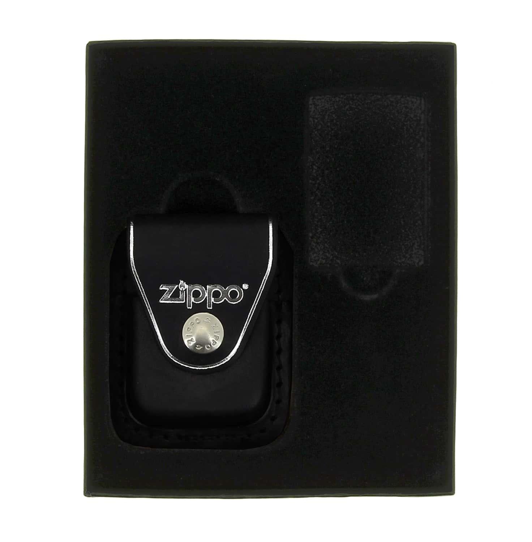 Photo de Boite cadeau Zippo avec étui noir à clip