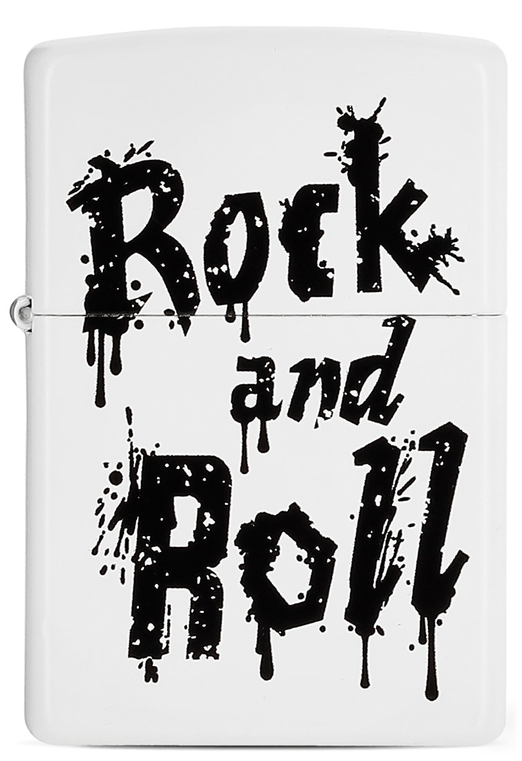 Photo de Zippo Rock and Roll Blanc