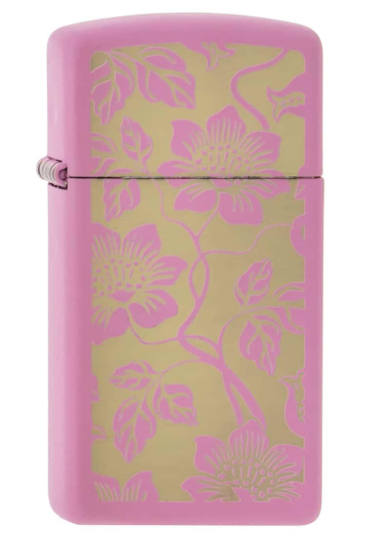 Photo de Zippo Slim Pink Floral Background