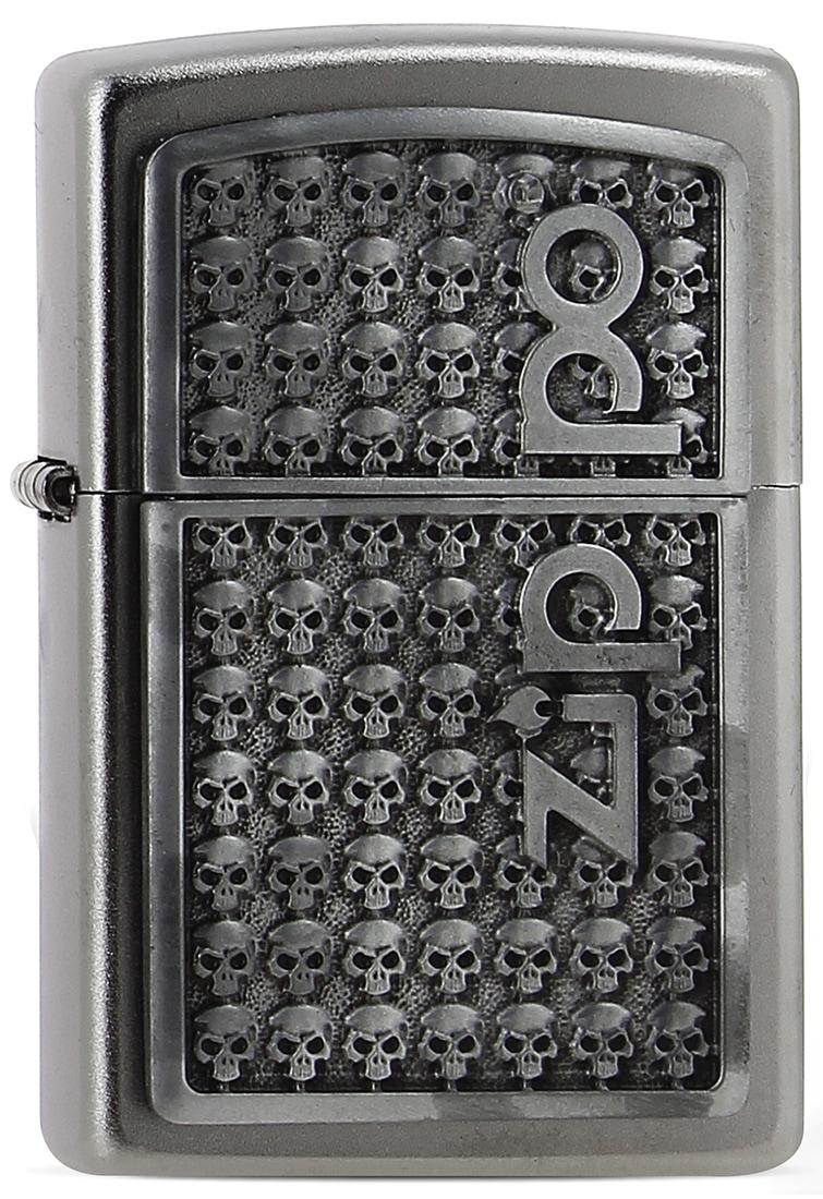 Photo de Zippo Logo with Skulls