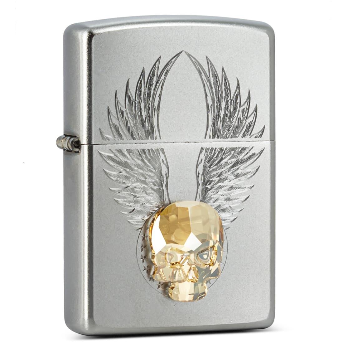 Photo de Zippo 205 Gold Skull Design