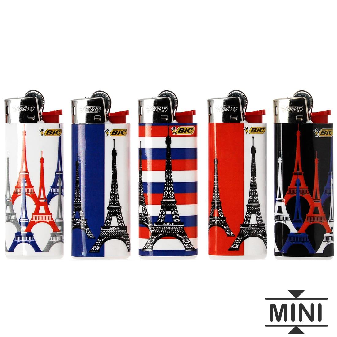 Photo #2 de 50 briquets Bic mini à pierre Tour Eiffel tricolore