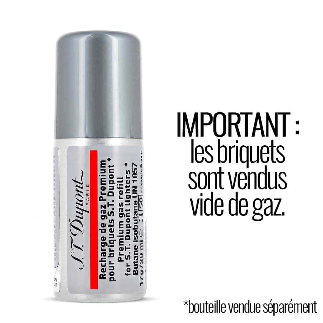 Photo #5 de Briquet S.T. Dupont Ligne 2 Noir Mat et Or Jaune