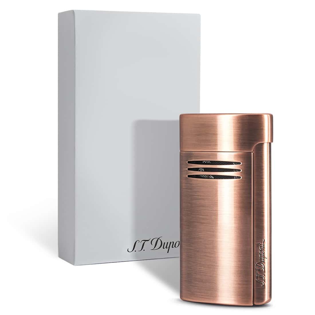 Photo #1 de Briquet S.T. Dupont MegaJet Cuivre Brushed Copper