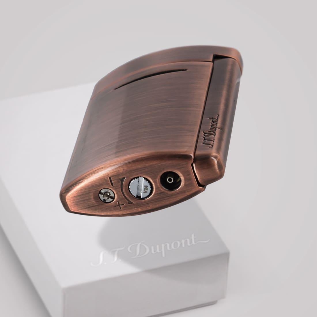 Photo #1 de Briquet S.T. Dupont New miniJet Cuivre Brushed Copper