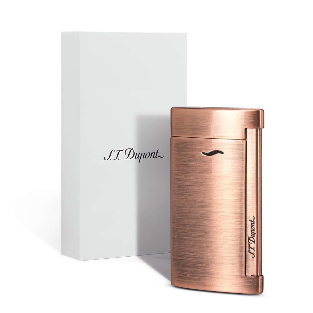 Photo #1 de Briquet S.T. Dupont Slim 7 Cuivre Brushed Copper