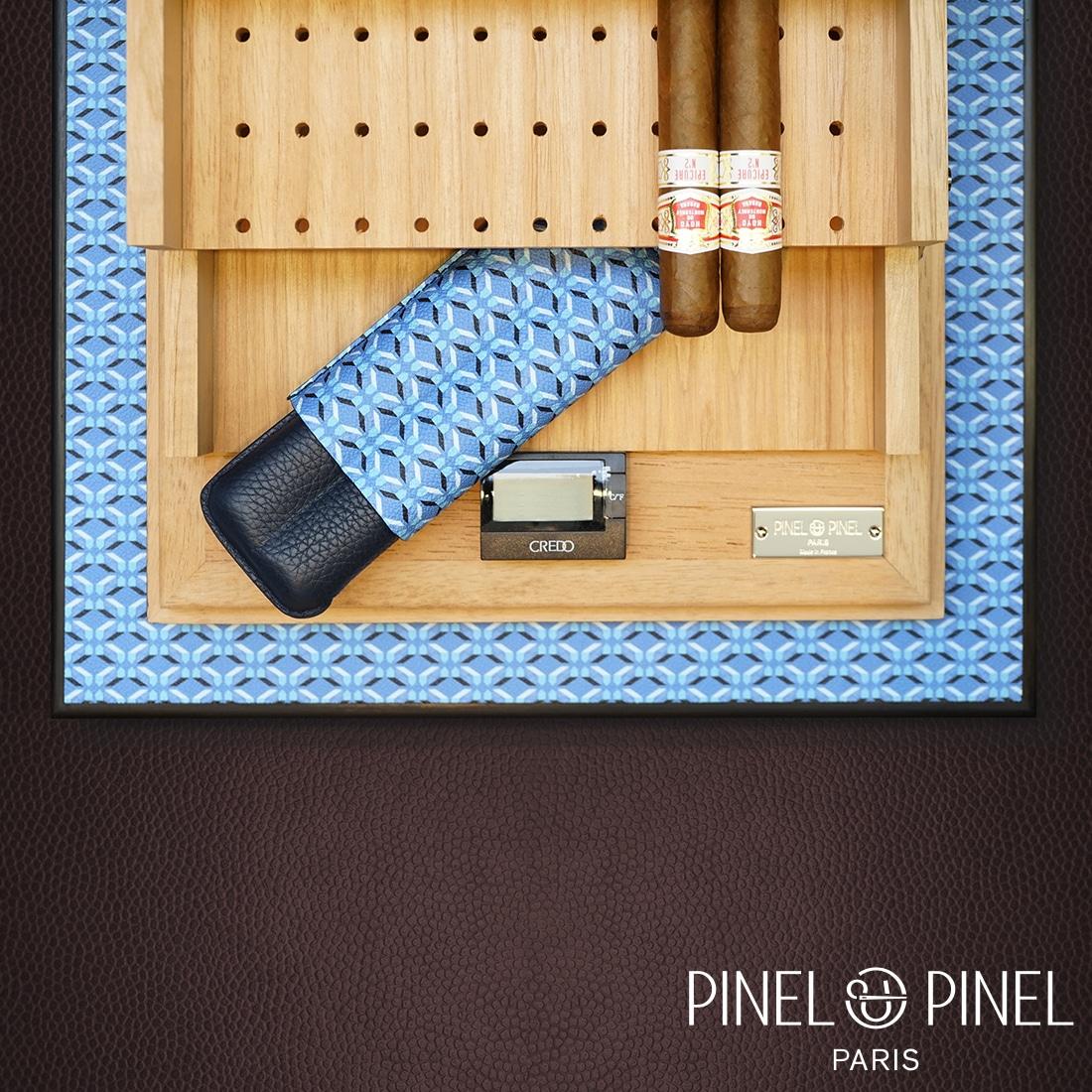 Photo #3 de Cave à cigares Pinel et Pinel Toile Azur