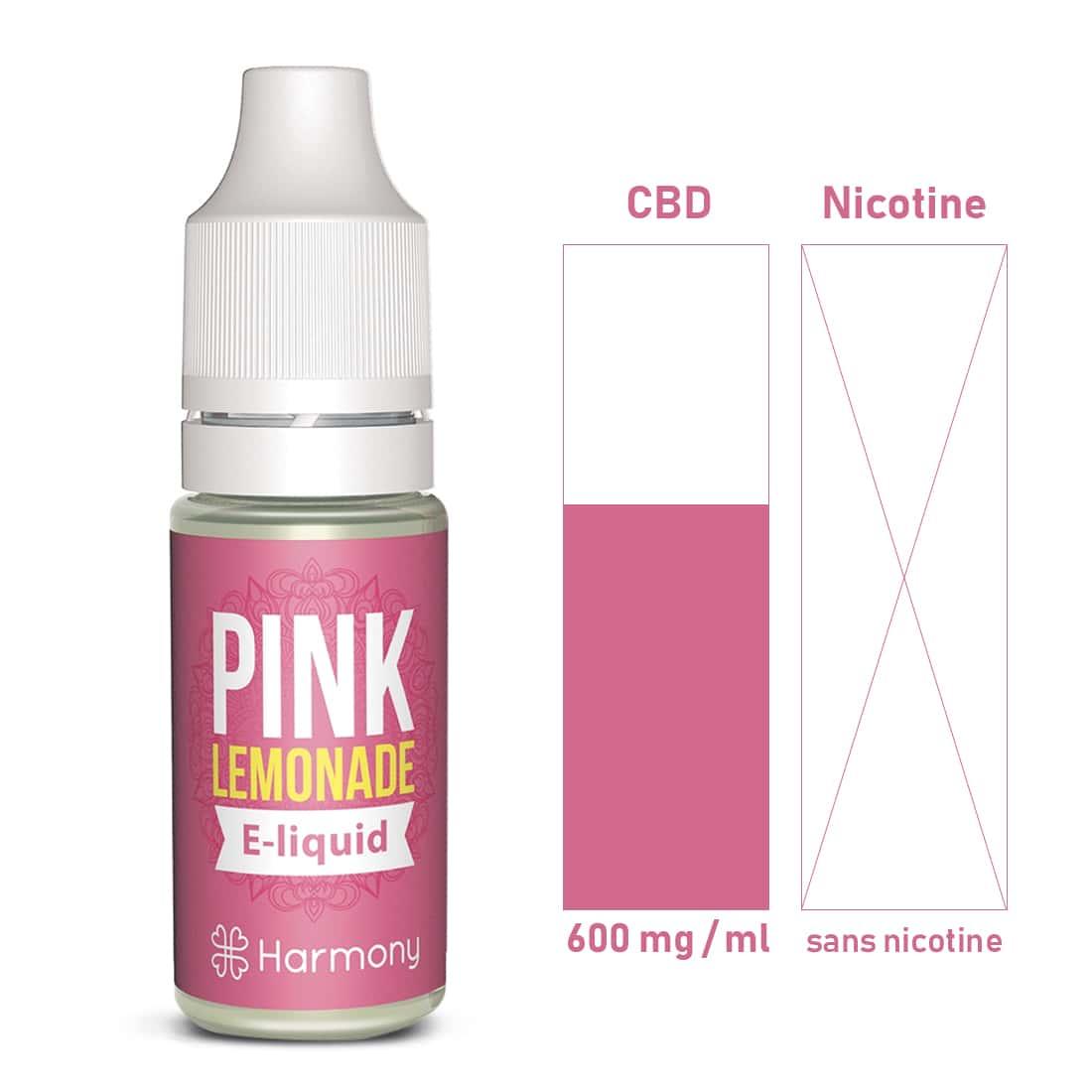 Photo #1 de CBD E liquide Pink Lemonade 600 mg
