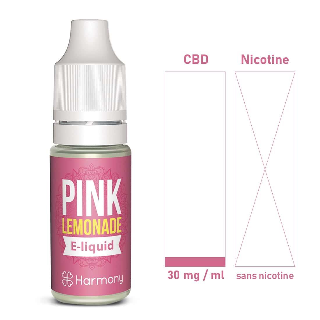 Photo #1 de CBD E liquide Pink Lemonade 30mg