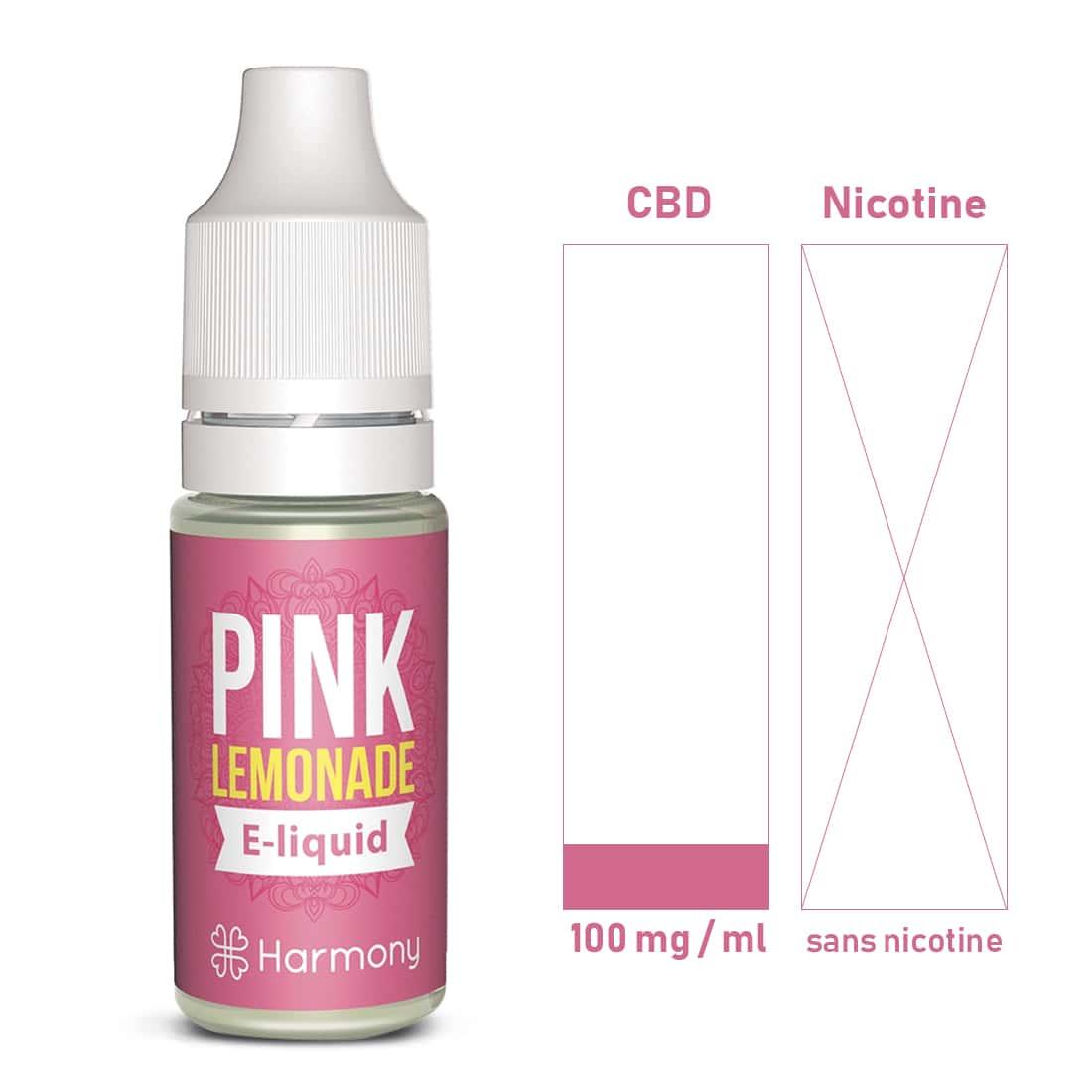 Photo #1 de CBD E liquide Pink Lemonade 100 mg