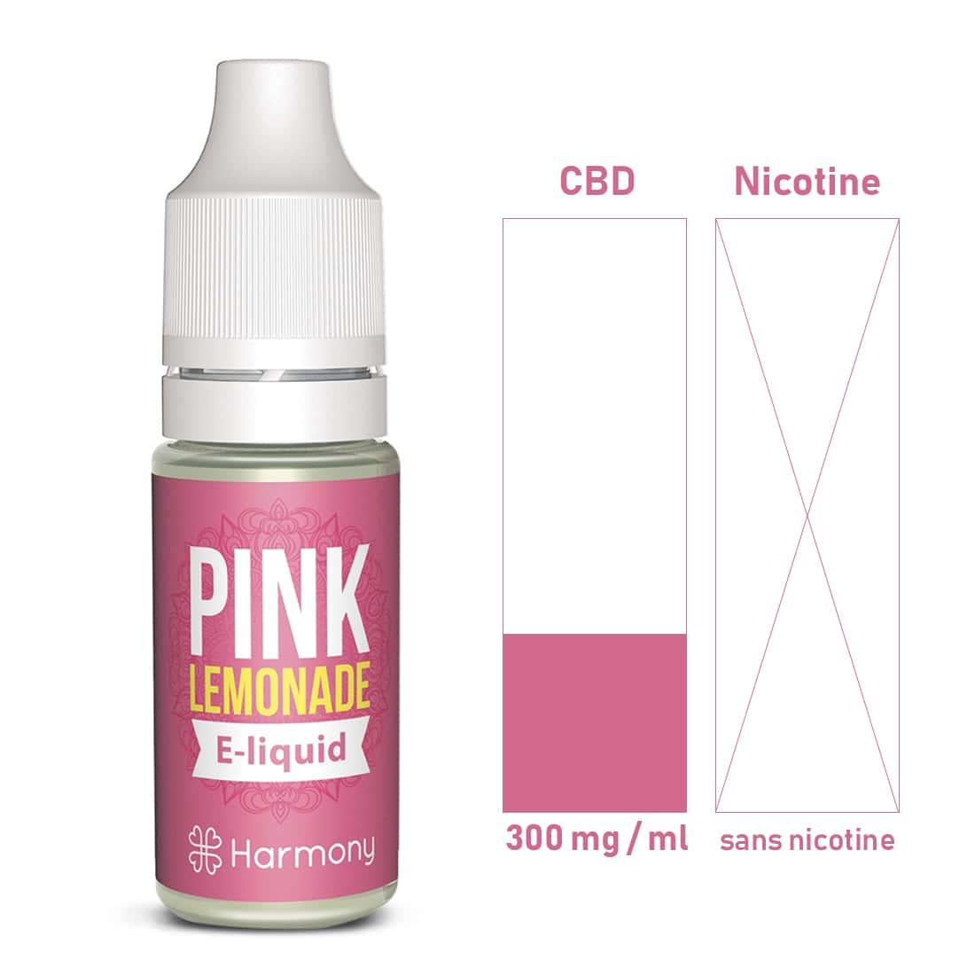 Photo #1 de CBD E liquide Pink Lemonade 300 mg