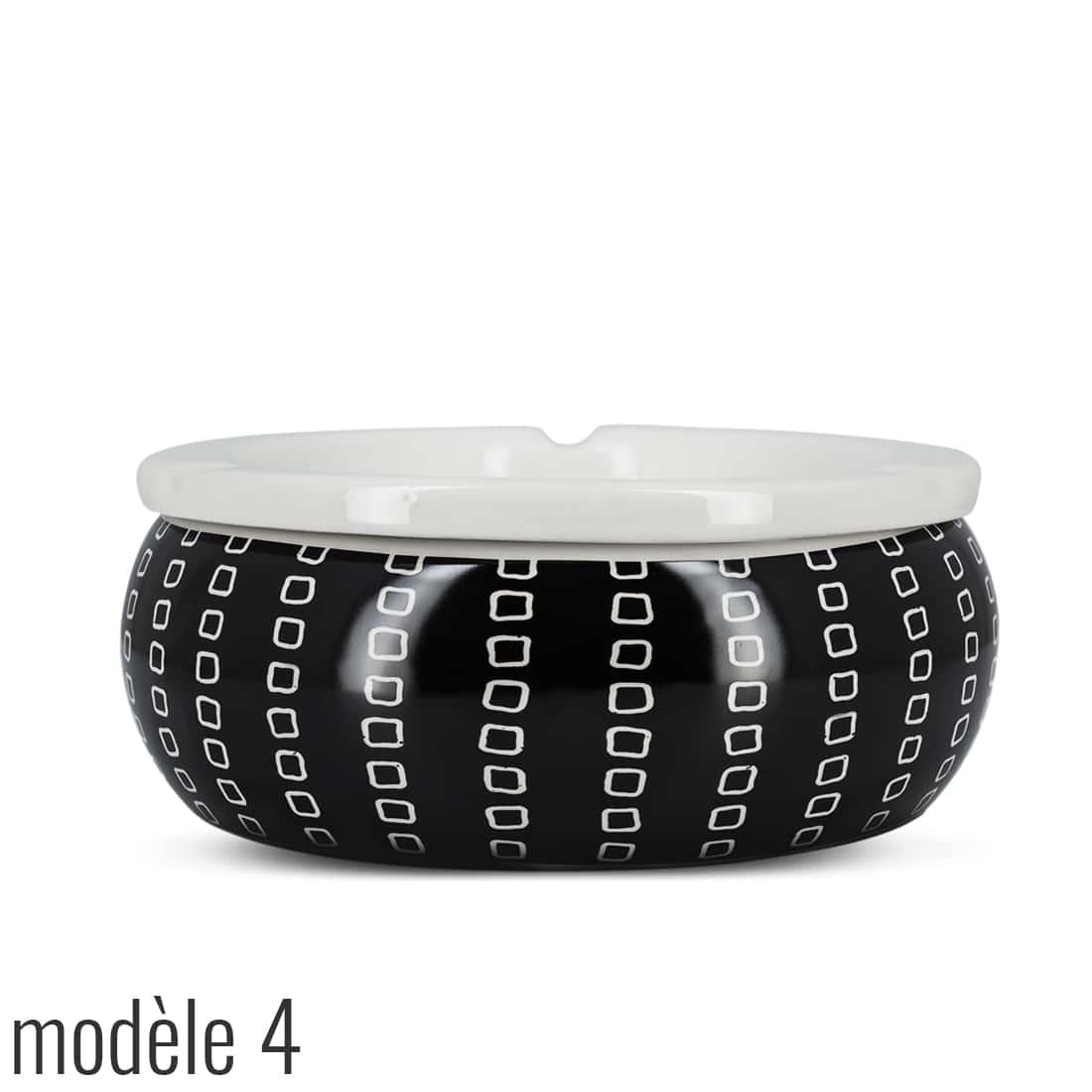 Photo #7 de Cendrier Marocain Décor Abstrait Noir et Blanc