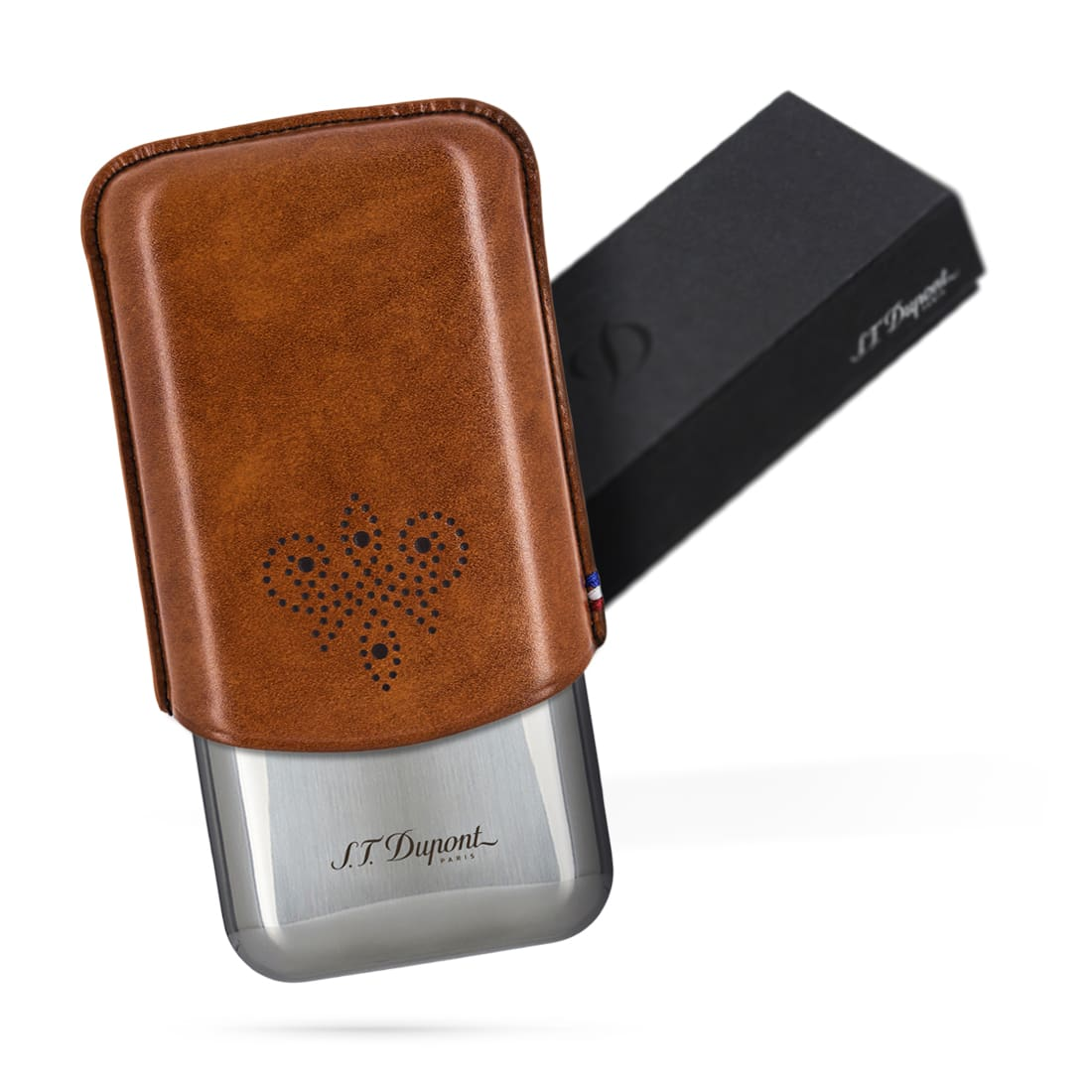 Photo #3 de Etui Cigare S.T. Dupont 3 Cigares Derby Marron