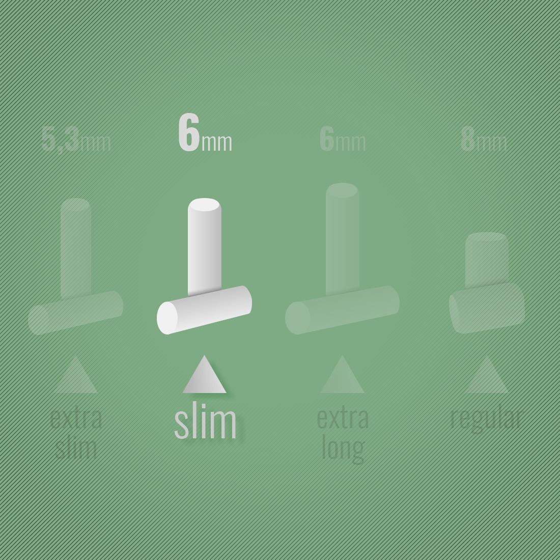 Photo #1 de Filtres Rizla + Slim Bamboo x 10 sachets