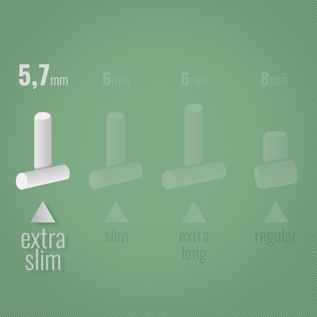 Photo #1 de Filtres Rizla + Ultra Slim en sticks Bamboo x 1 Boite