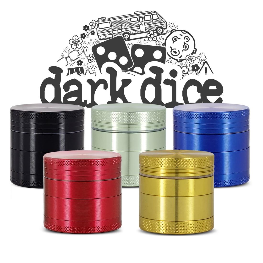 Photo #4 de Grinder Dark Dice Alu 4 parties 40mm Bleu