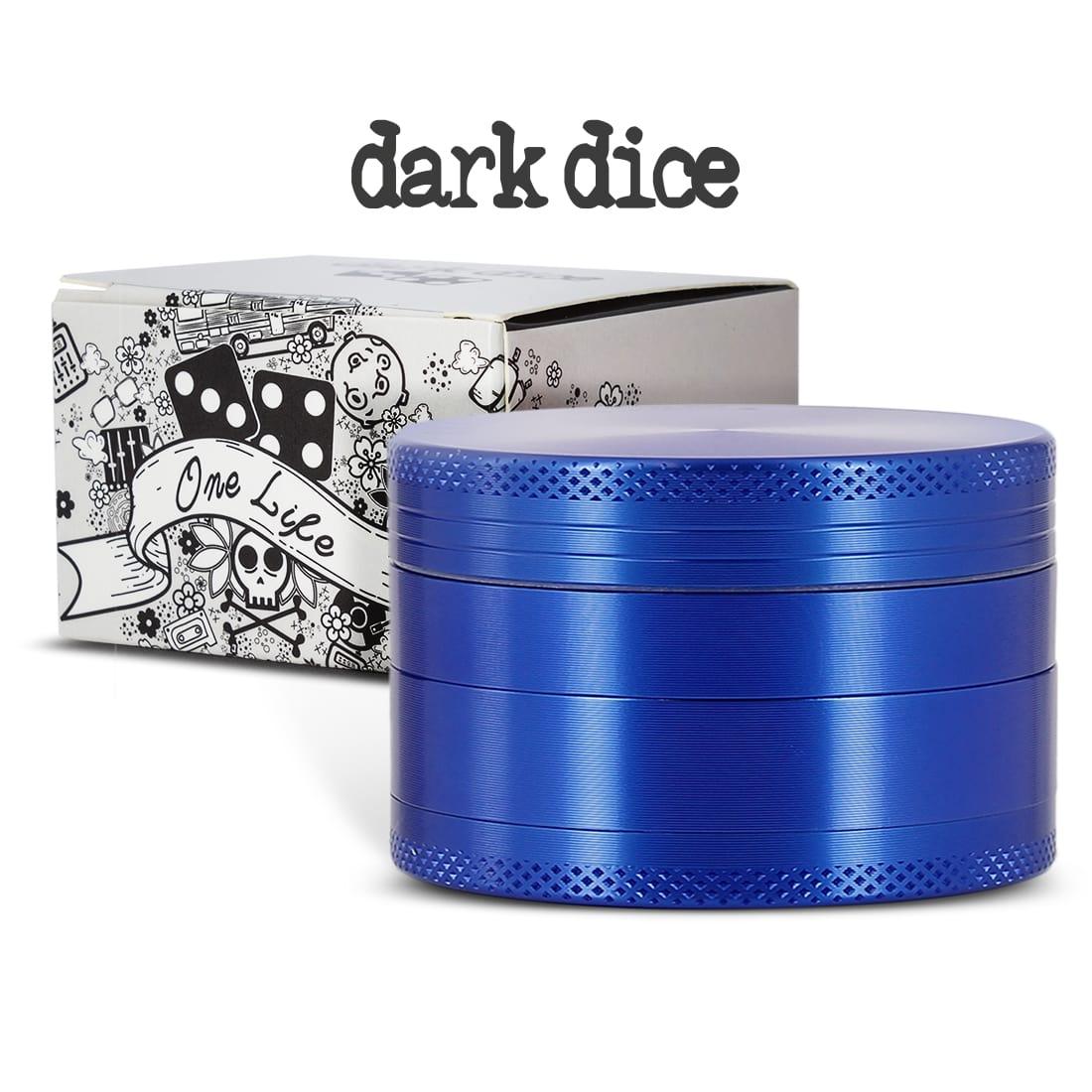 Photo #2 de Grinder Dark Dice Alu 4 parties 60mm Bleu