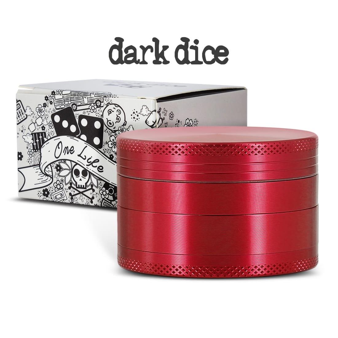 Photo #2 de Grinder Dark Dice Alu 4 parties 60mm Rouge