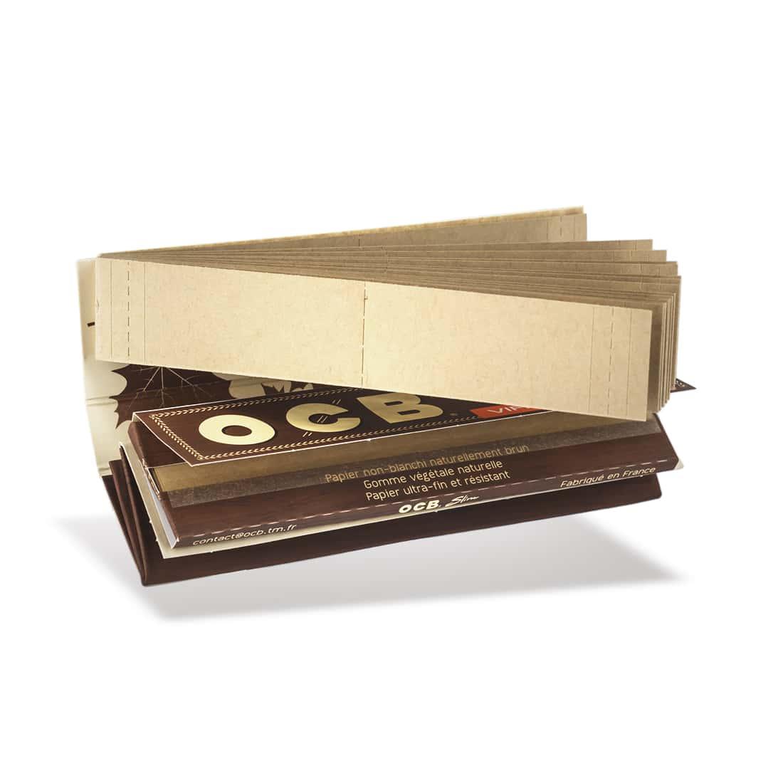Photo #1 de Papier à rouler OCB Slim Virgin Roll Kit x 10