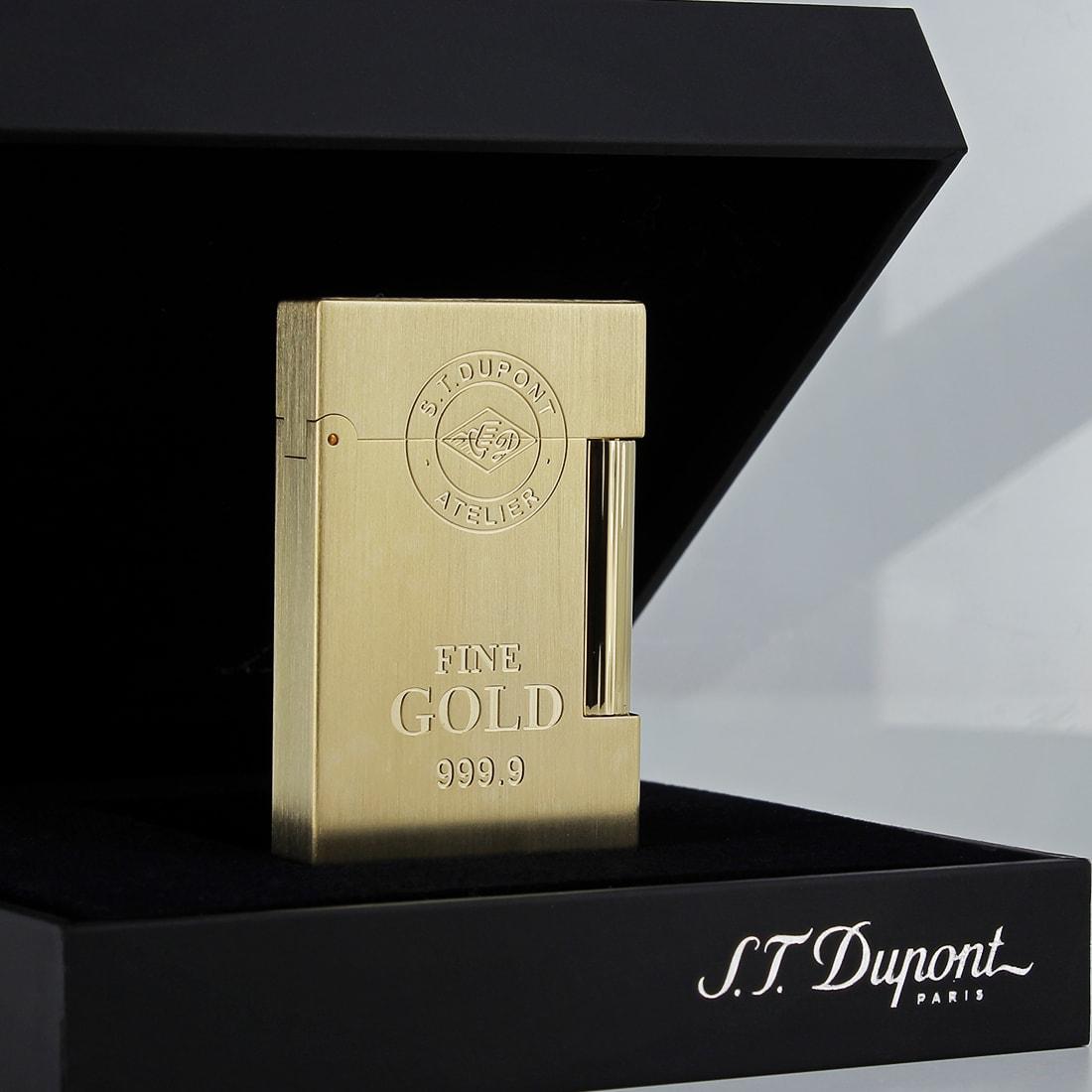 Photo #2 de Briquet S.T. Dupont Ligne 2 Lingot d'or