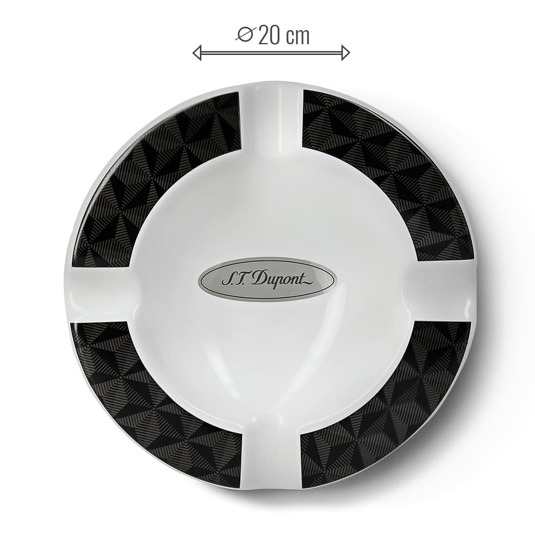 Photo #1 de Cendrier Porcelaine S.T. Dupont Graphique Head