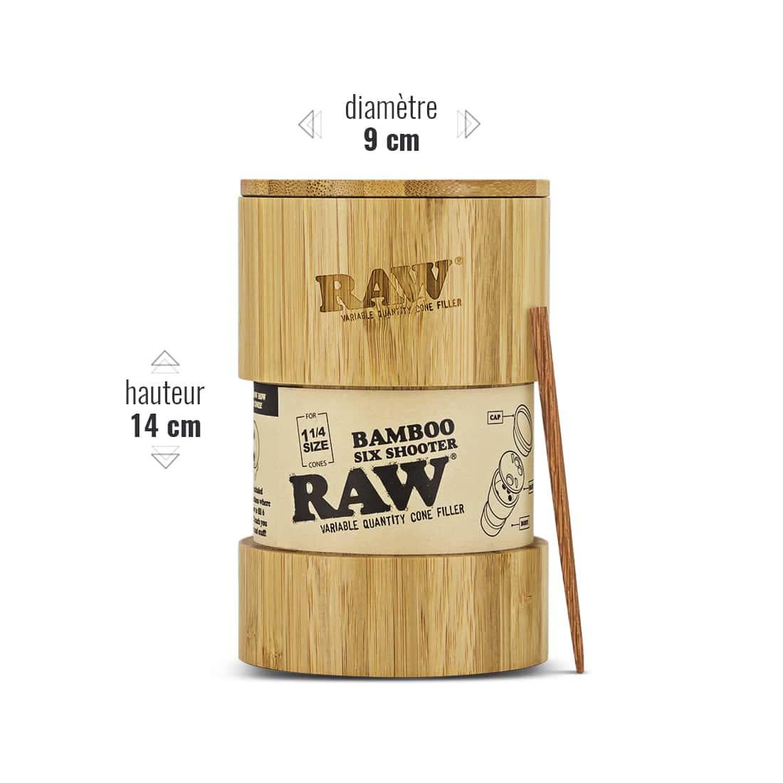 Photo #2 de Shooter Raw 6 Cones 1/4 version Bamboo