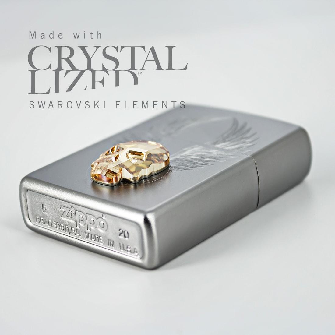 Photo #3 de Zippo 205 Gold Skull Design