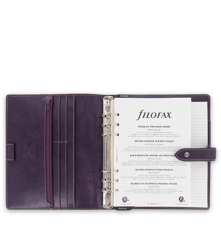 Photo #1 de Agenda Filofax A5 Malden Violet