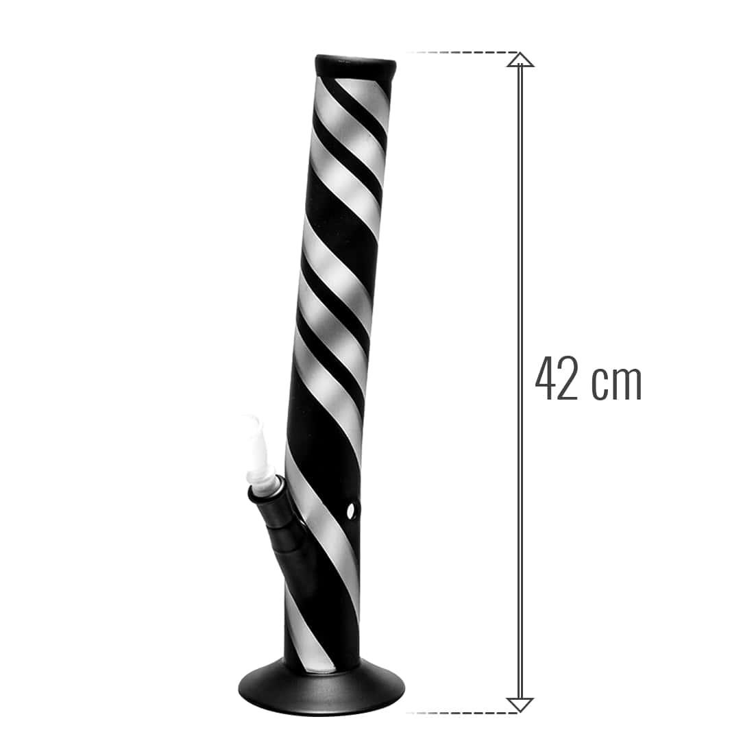 Photo #1 de Bang en Verre Zebra Coudé 42 cm