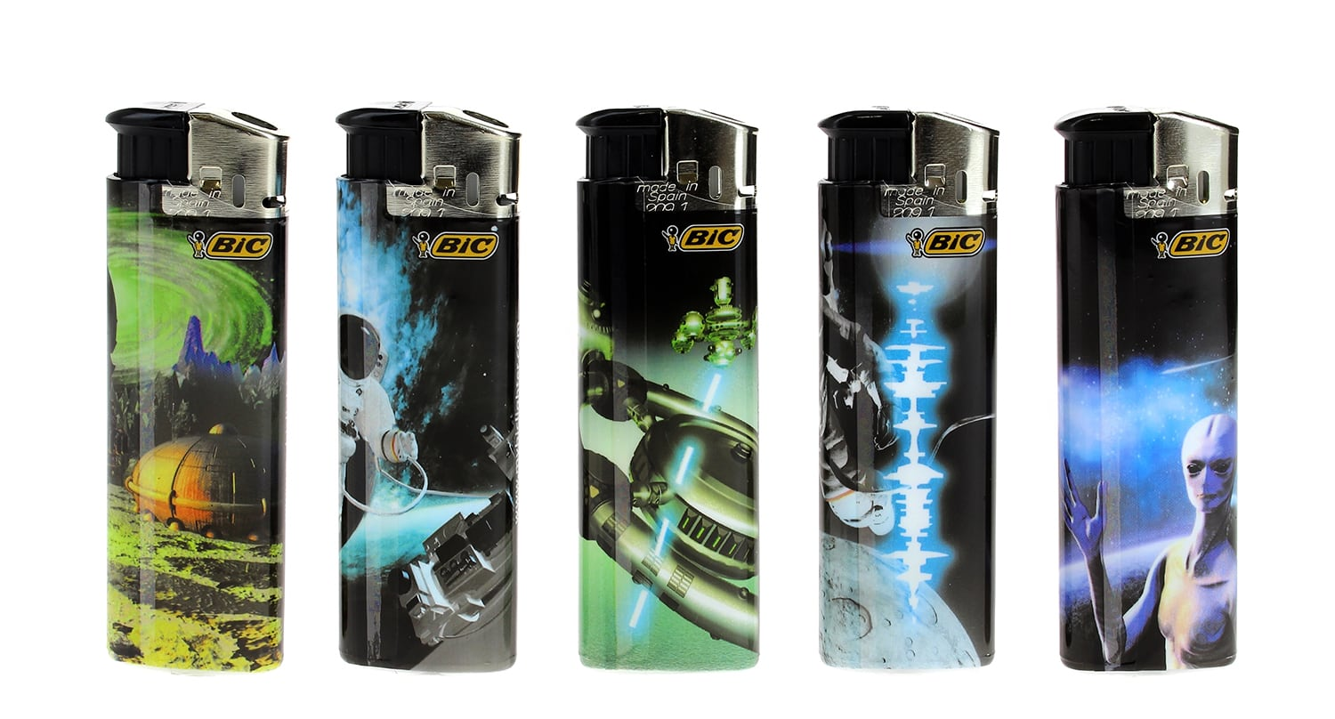 Photo #1 de 5 briquets Bic Maxi electronic Cosmos