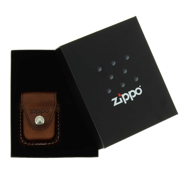 Photo #3 de Boite cadeau Zippo avec étui marron à clip