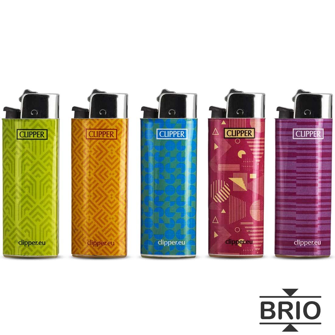 Photo #1 de Briquet Clipper Brio Micro Pattern x 5