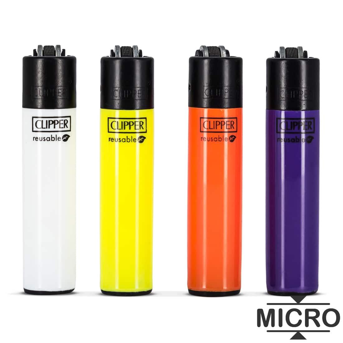 Photo #1 de Briquet Clipper Micro Couleur x 4