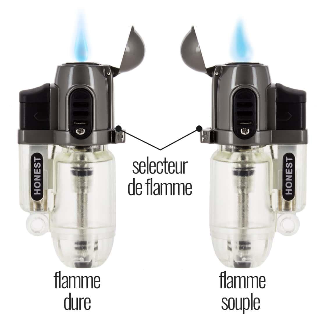 Photo #1 de Briquet Honest Torch Tempête Transparent