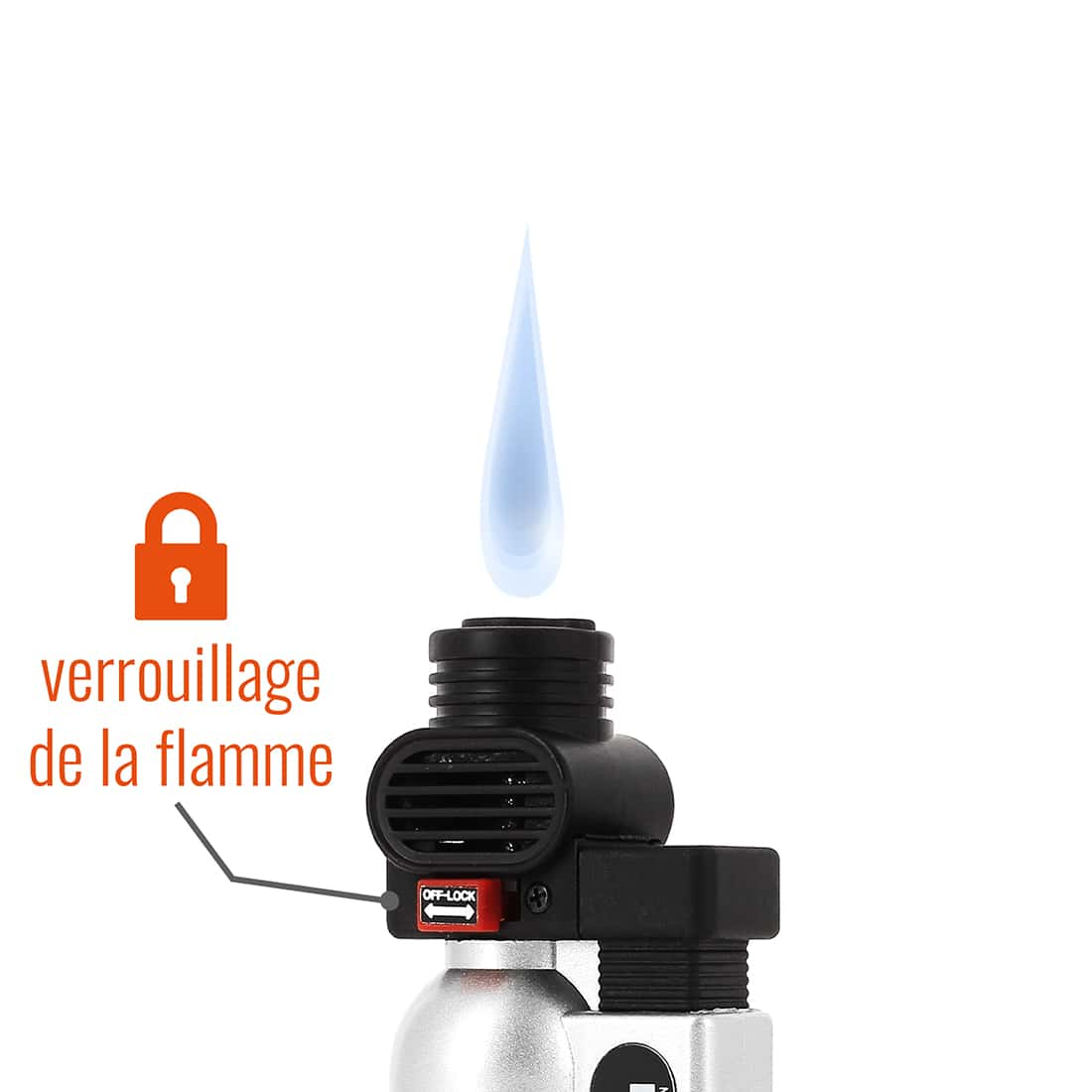 Photo #1 de Briquet PRINCE pocket torche argent