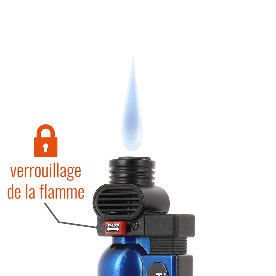 Photo #1 de Briquet PRINCE pocket torche bleu