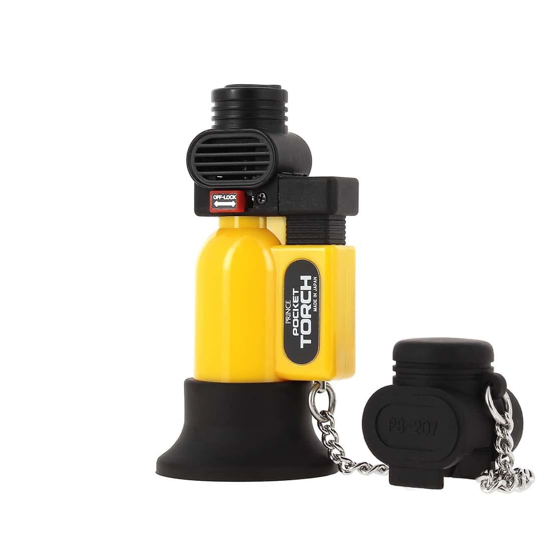 Photo #2 de Briquet PRINCE pocket torche jaune