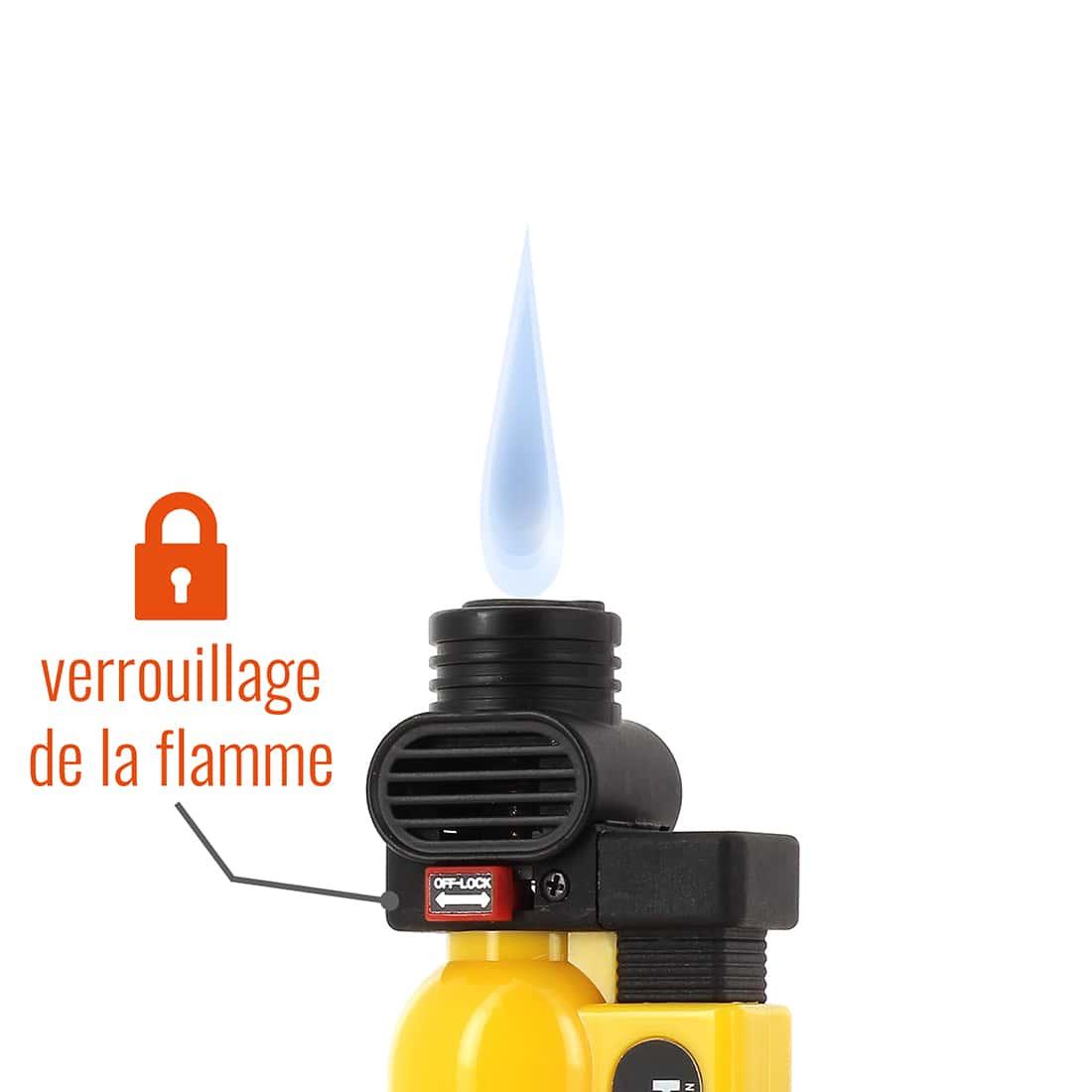 Photo #1 de Briquet PRINCE pocket torche jaune