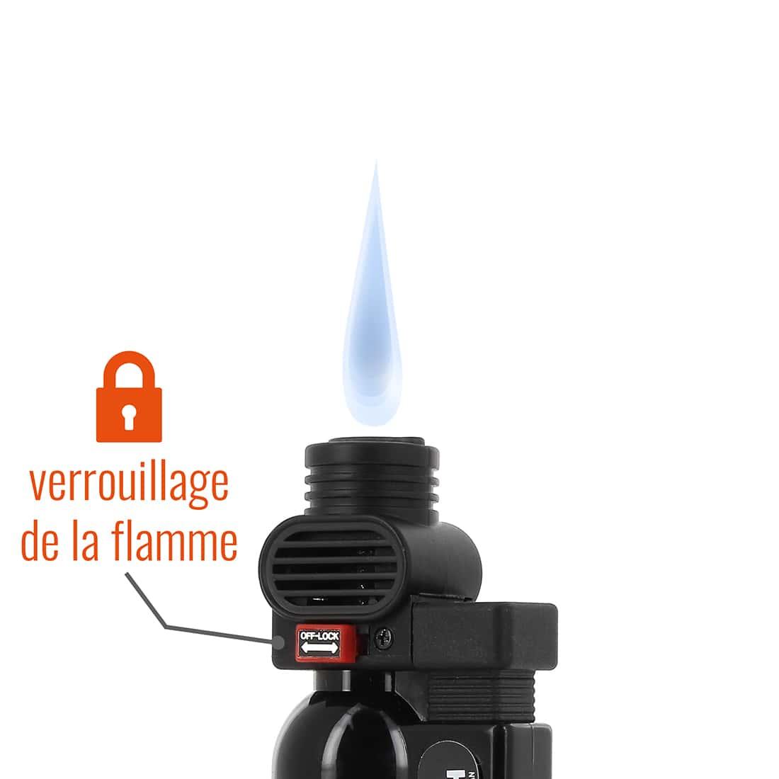 Photo #1 de Briquet PRINCE pocket torche noir