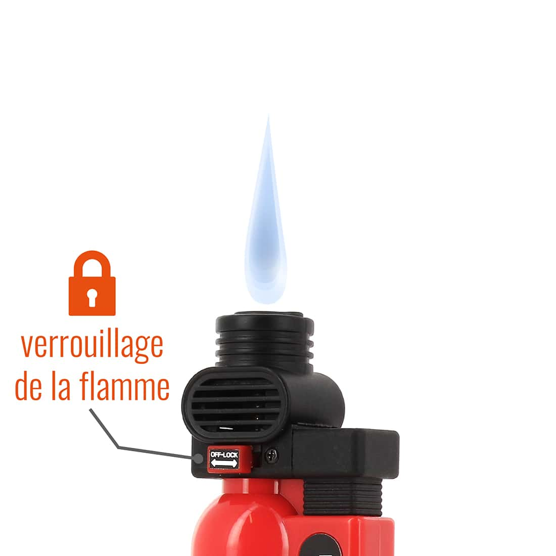 Photo #1 de Briquet PRINCE pocket torche rouge
