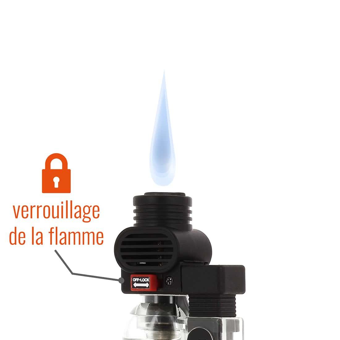 Photo #1 de Briquet PRINCE pocket torche transparent