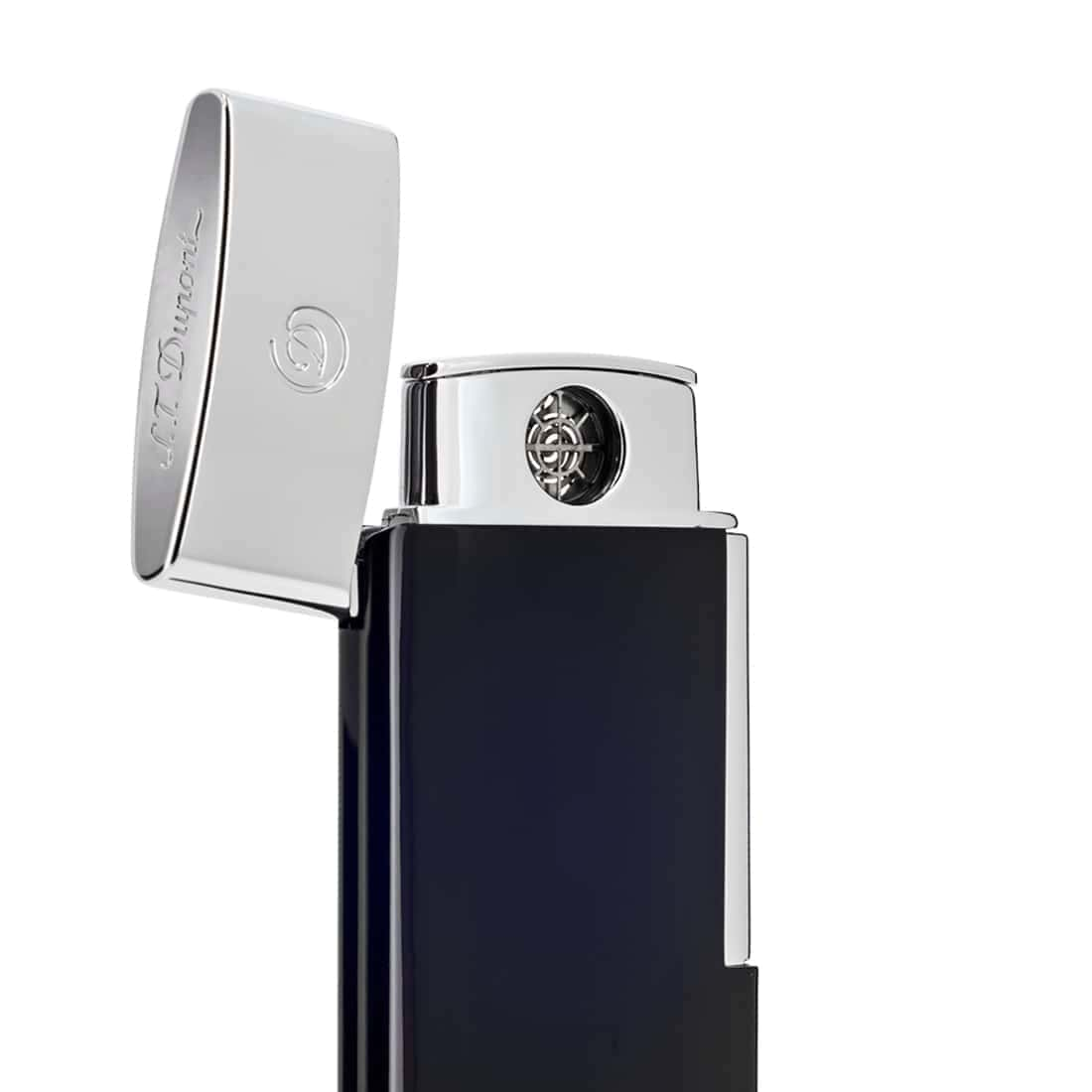Photo #1 de Briquet S.T. Dupont E-Slim Bleu & Chromé
