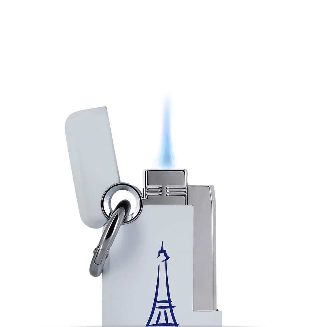 Photo #1 de Briquet S.T. Dupont Hooked Paris Blanc