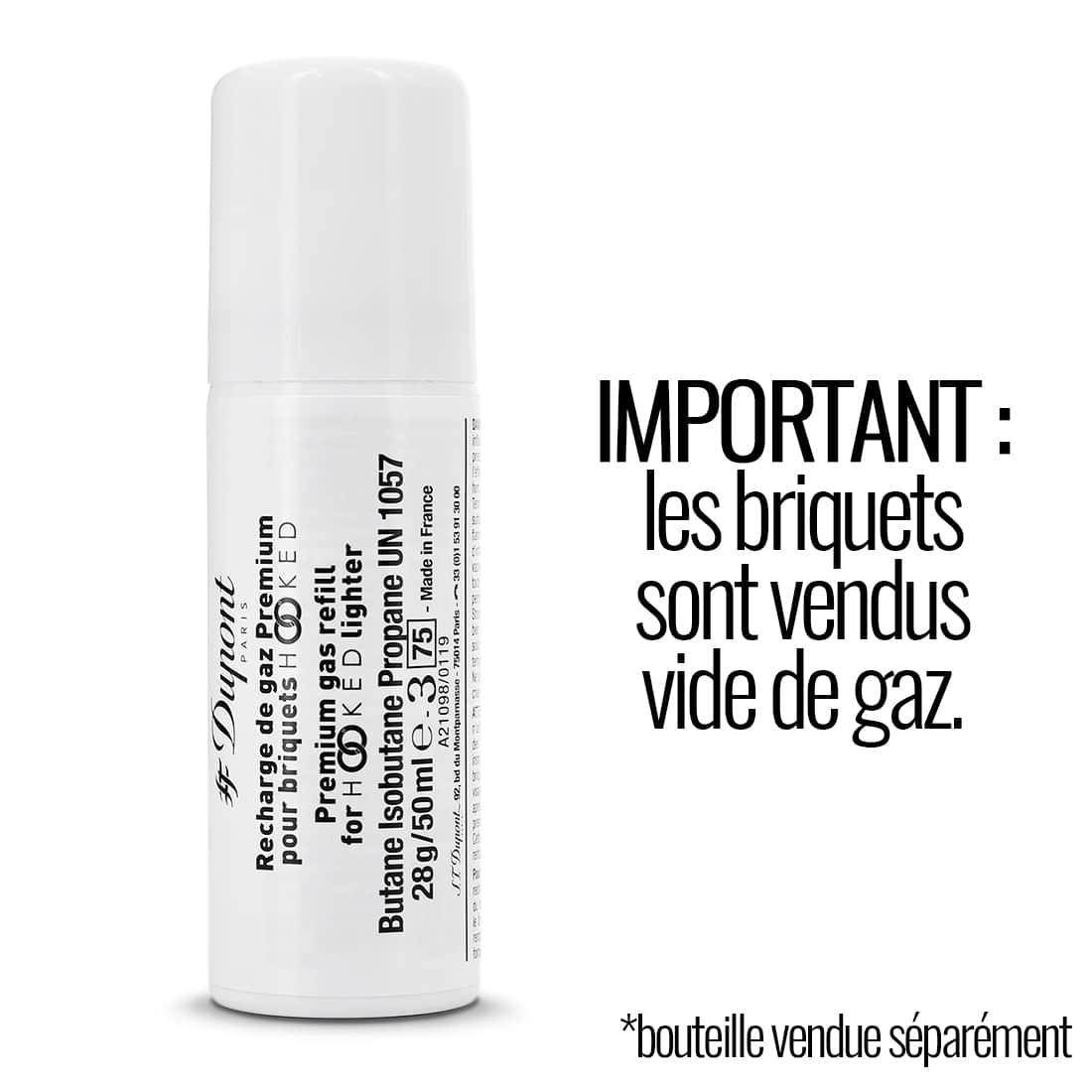 Photo #4 de Briquet S.T. Dupont Hooked Paris Blanc